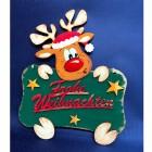 """Türschild Rentier """"Frohe Weihnachten"""" - 68473800000 - 1 - 140px"""