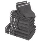 Handtuchset XXL, grau, 10-teilig - 68483400000 - 1 - 140px