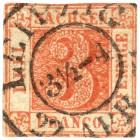 Sachsen Drei Pfennig rot