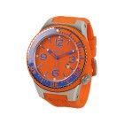 "KIENZLE Herrenuhr ""Poseidon XL Slim"" Quarz orange"