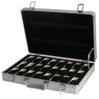 Aluminium Uhrenbox für 24 Uhren