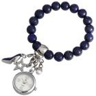 Crystal blue Damenuhr Perlenband Lapis 3 Charms - 94459700000 - 1 - 140px