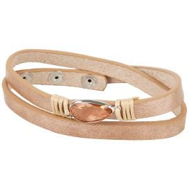 crystal blue Wickel-Armband bronze