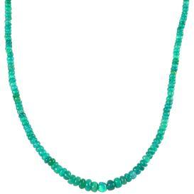 Collier Äthiopischer Opal grün