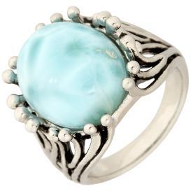 Ring 950 Silber, Larimar
