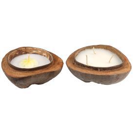 Kokosschale mit Kerze 2tlg.