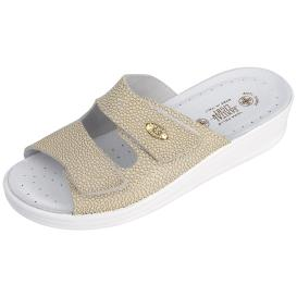 SANITAL LIGHT Damen Leder-Pantolette, gold