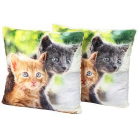 Image of Dekokissen Katzenpaar 2er Set, Fotodruck