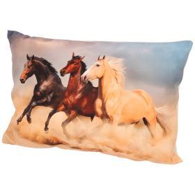 Image of Dekokissen Pferde, 40x60 cm