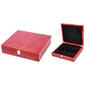 Image of Uhrenbox für 10 Uhren, rotbraun/schwarz