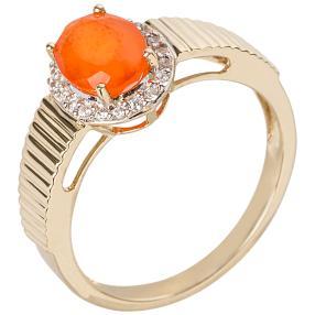 Ring 585 Gelbgold Feueropal