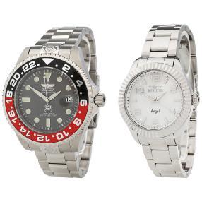INVICTA 2er Uhrenset für Sie und Ihn silbern