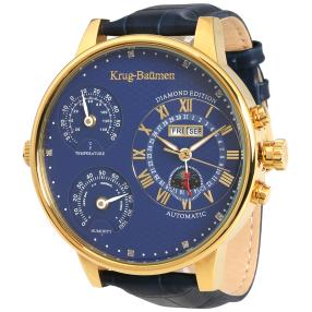 "Krug Baümen ""Weather"" Herrenuhr Automatik blau"