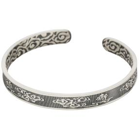 """Armreif 999 Silber """"Tibet"""""""