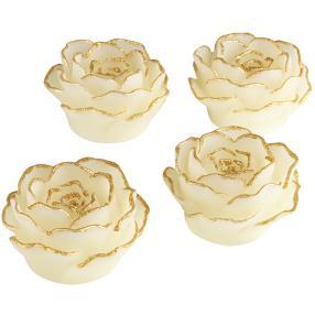 EASYmaxx LED-Kerzen Rosenblüte, 4-teilig
