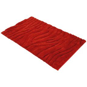 GÖZZE Badteppich Welle rot 60 x 100 cm