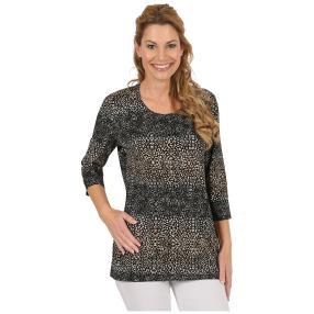 RÖSSLER SELECTION Damen-Shirt schwarz/braun/beige