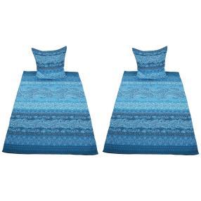 AllSeasons Bettwäsche 4tlg. 135x200cm blau