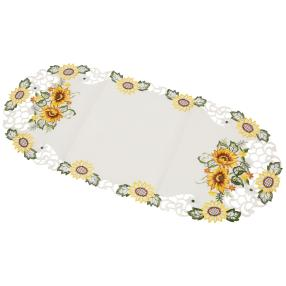 Tischläufer Sonnenblume, bestickt