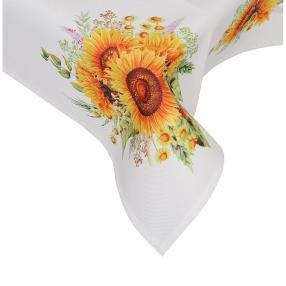 Mitteldecke Sonnenblumen, 85 x 85 cm, Fotodruck