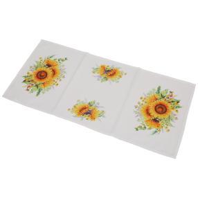 Tischläufer Sonnenblume, 40 x 90 cm, Fotodruck