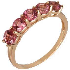 Ring 375 Gelbgold Pink Turmalin