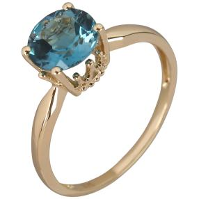 Ring 375 Gelbgold London Blue Topas behandelt