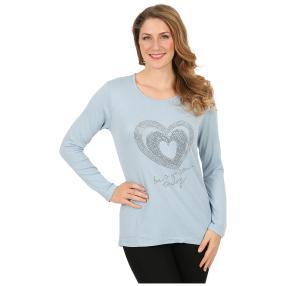 Damen-Pullover hellblau Herz