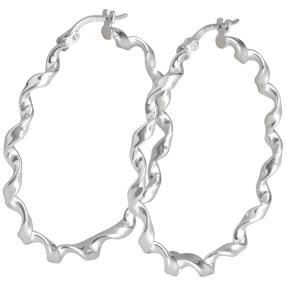 Creolen 950 Silber, poliert