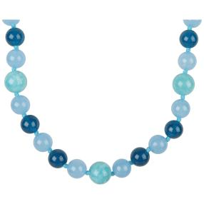 Collier Jade blau multicolor