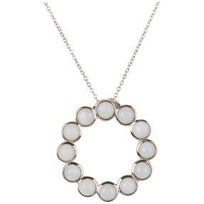 Anhänger mit Kette 925 Sterling Silber Opal weiß