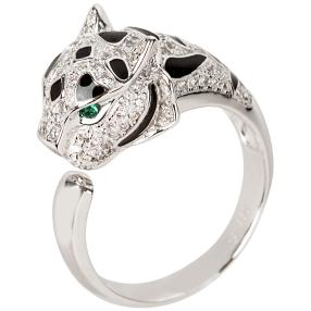 Ring 930 Silber Panther Zirkonia
