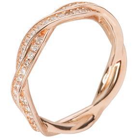 Ring 930 Silber rosévergoldet Zirkonia