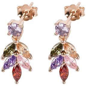 Ohrhänger 930 Silber rosévergoldet Zirkonia