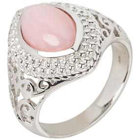 Ring 925 Sterling Silber, Opal pink