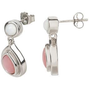 Ohrhänger 925 Sterling silber Opal pink