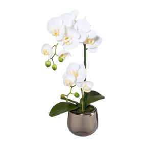 Orchidee im Silbertopf, ca. 39 cm