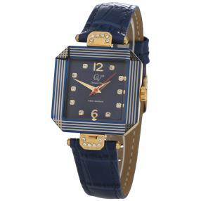 """Christian View Uhr """"Fernanda"""" vergoldet, blau"""
