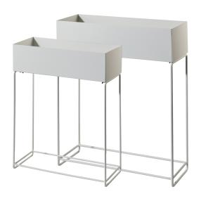 Metall-Pflanzkasten XXL 2er-Set weiß