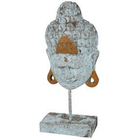 Buddhakopf auf Sockel, ca. 42 cm