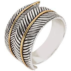 Ring 925 Sterling Silber Feder