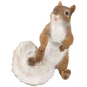 Dekofigur Eichhörnchen hängend an den Vorderpfoten