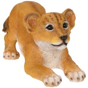 Dekofigur Löwen Baby liegend