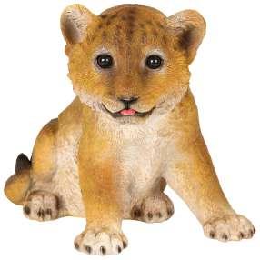 Dekofigur Löwen Baby sitzend