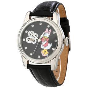 "Disney ""Daisy Duck"" Damenuhr Automatik schwarz"