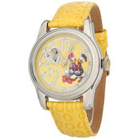 "Disney ""Donald + Daisy"" Damenuhr Automatik gelb"