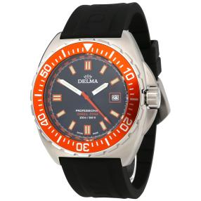 "DELMA ""Shell Star Quarz"" Herrenuhr orange"