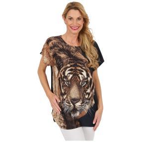 "Damen-Longshirt ""Tiger"", marine"