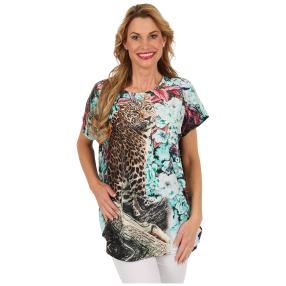 "Damen-Longshirt ""Leopard"", multicolor"