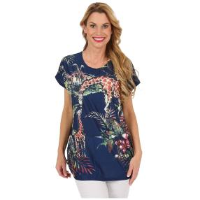 "Damen-Longshirt ""Giraffe"", multicolor"